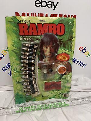 Vintage 1985 Collegeville RAMBO Jungle Kit Halloween Costume Kit BRAND NEW *RARE