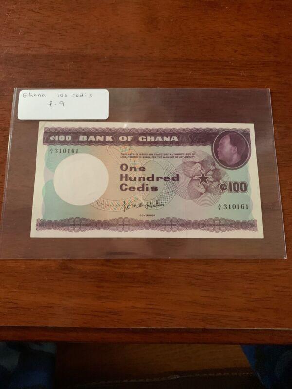 [100294] Ghana ND 1965 100 Cedis Bank Note UNC P9