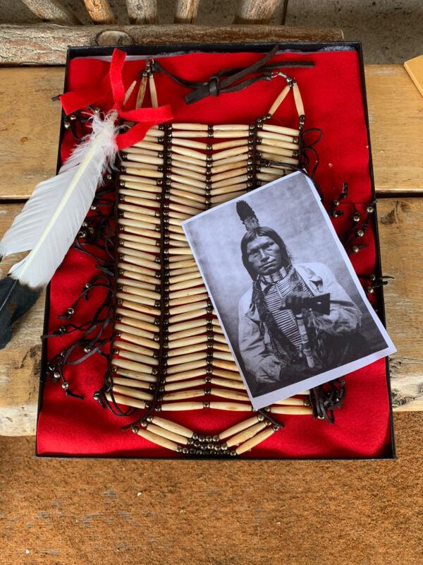 Native American Buffalo Bone Breast Plate