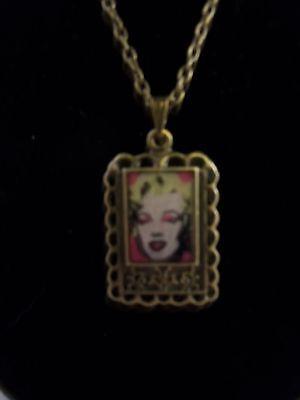 New DIY Necklace art print Andy Warhol - Marilyn #1