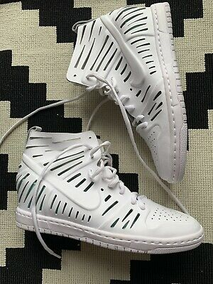 NEW Nike White Cut Out Wedge Trainers Size 6