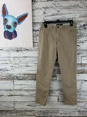Abercrombie & Fitch Langdon Mens Slim Chino Stretch Pants Tan Size 29x30
