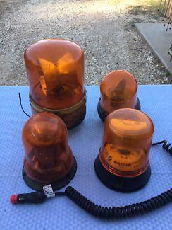 Orange safety flashing lights