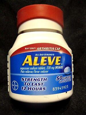 Aleve Naproxen Sodium 220Mg Pain Reliever Fever Reducer 50 Caplets  Dec 2019
