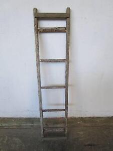 D8092 Old Timber Ladder Display Stand Pot Hanger Mount Barker Mount Barker Area Preview