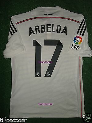 ARBELOA  REAL MADRID FINAL SUPERCOPA DE ESPAÑA 2014 MATCH UNWORN SHIRT  image
