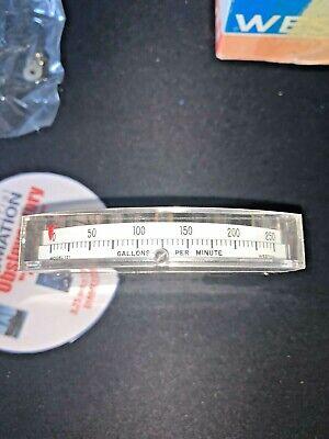 Weston Model 131 Meter 0-250gpm 0-10 Volt Range Metermaster