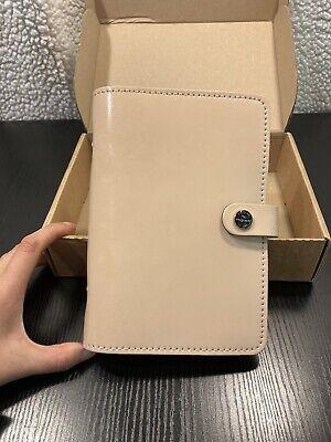 Filofax Original Organizer Personal Size Nude Patent Leather Made Uk