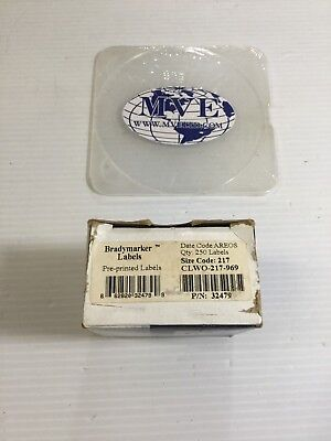 Brady 32479 Bradymarker Ls2000 Id Pro Clwo-217-969 250 Pre-printed Labels