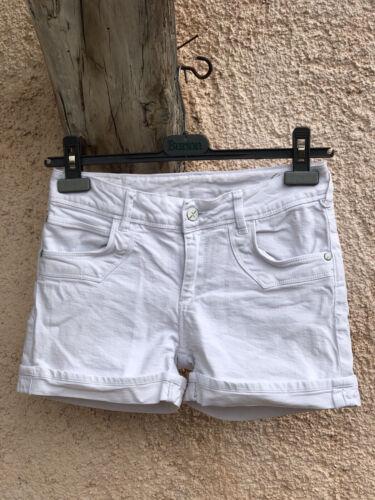 Short blanc t 36 school rag toile coton be