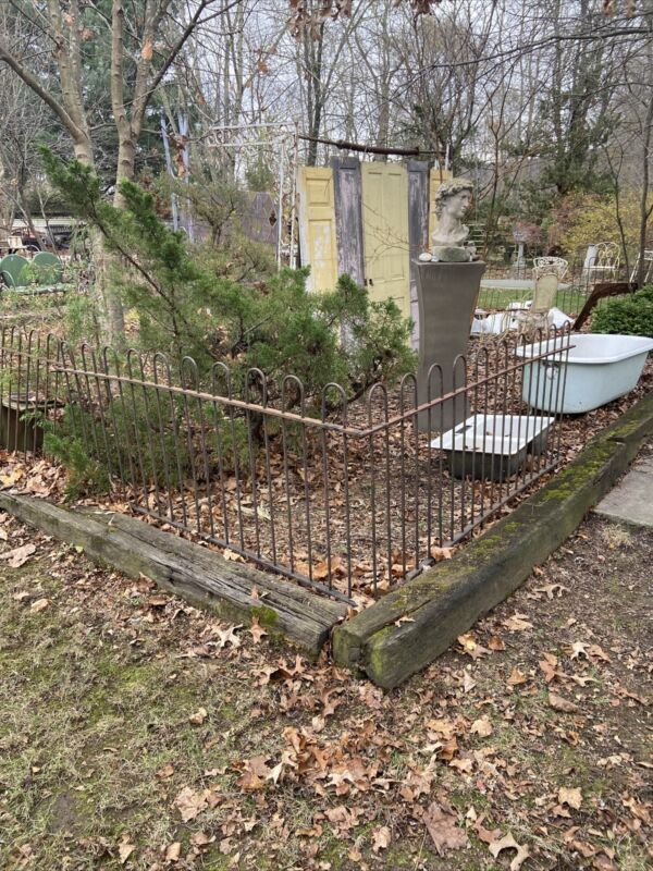 Architectural Salvage Cast Wrought  Iron Garden  Fence Railing 40 Feet 3 Ft Tall
