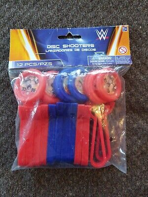 WWE Bash MINI DISC SHOOTERS (12) ~ Birthday Party Supplies Favors Toys  - Wwe Party Favors