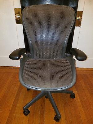 Herman Miller Aeron Chair Size C - Full Function W Lumbar - Broken Seat Pan
