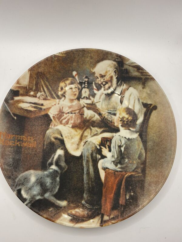 NORMAN Rockwell, The Toy Maker Collector PLATE. First in Heritage Collection