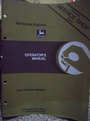 John Deere 400 Series Engines Operators Manual Dealer Service Shop Copy Om-rg16