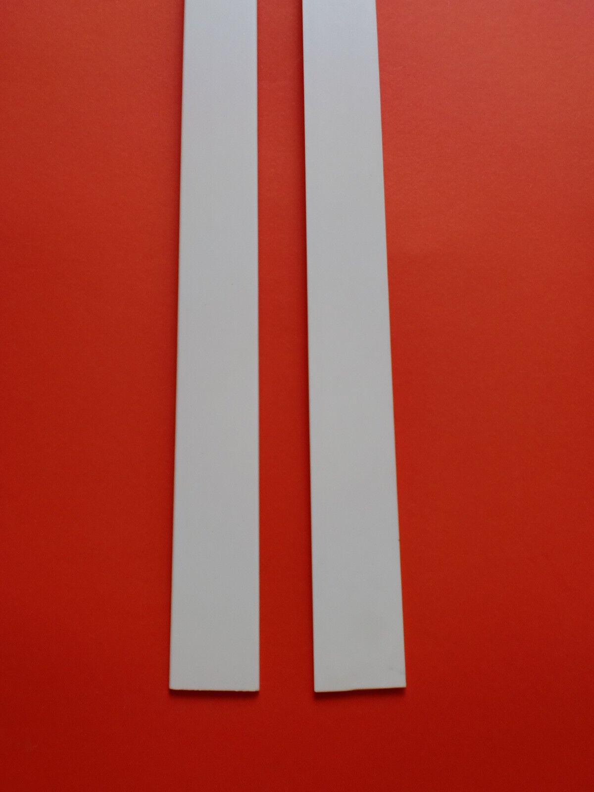 Abdeckleisten Flachleisten 6m  20-120mm-2,5 mm Kunststoffleisten PVC weiß