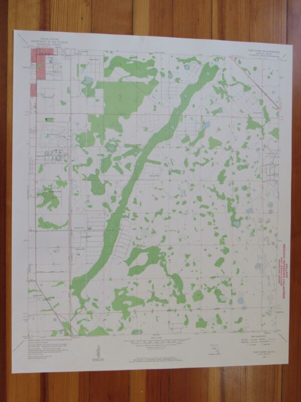 Fort Myers SE Florida 1959 Original Vintage USGS Topo Map