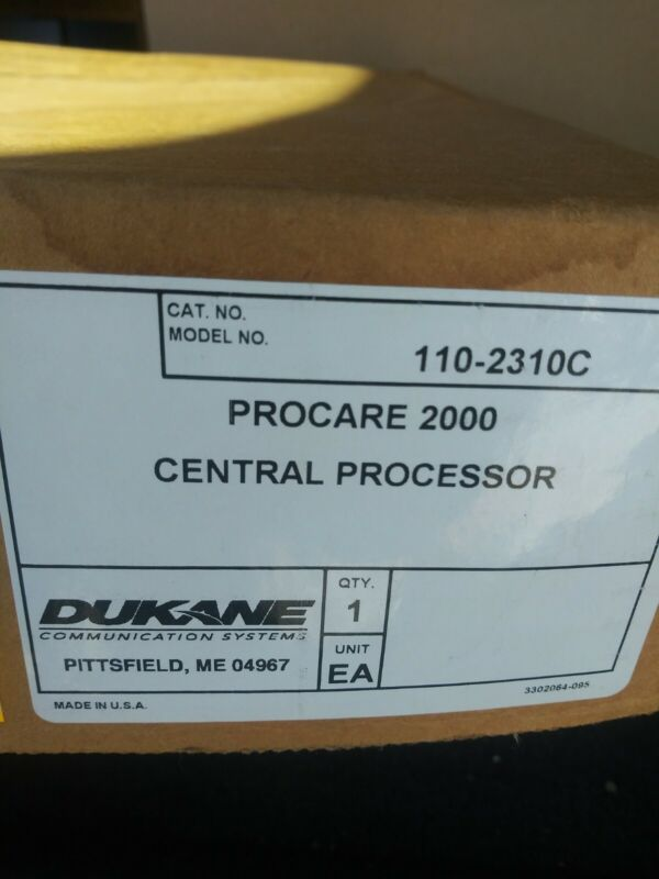 Dukane Procare 2000 CPU 110-2310A