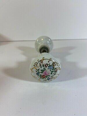 Vintage Porcelain Door Knob - Hand Painted Flowers t24