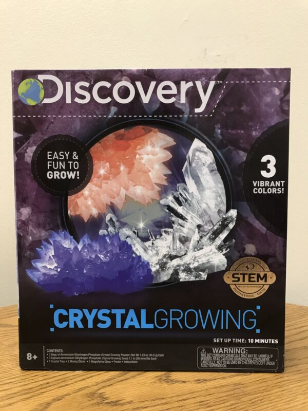 Discovery Kids Crystal Growing Set Science Experiment Kit Educational Learn Gift