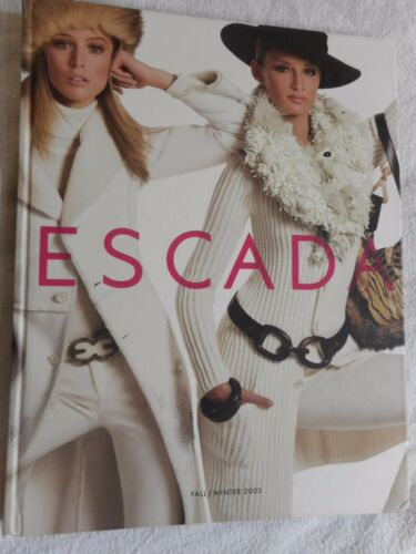 ESCADA Vintage 2003 Fashion Catalog Book Advertising Marketing Fall Winter 172