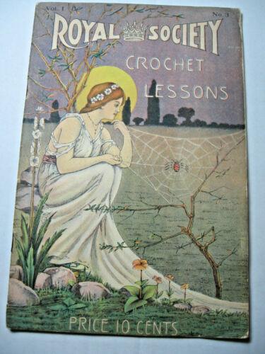 1917 era Royal Society Crochet Lessons  No. 3 Booklet