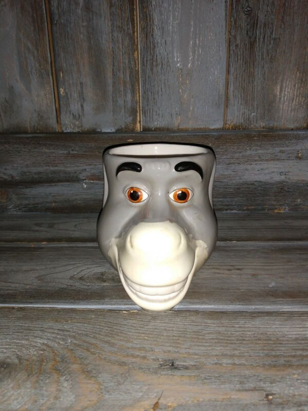 Shrek Donkey 3D Face Coffee Mug Cup 2004 Dreamworks Galerie excellent condition