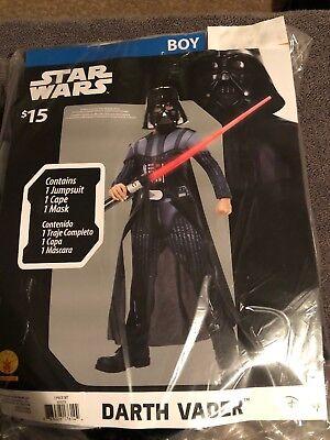 Halloween Costume Boy's Star Wars Darth Vader Small or Medium NEW