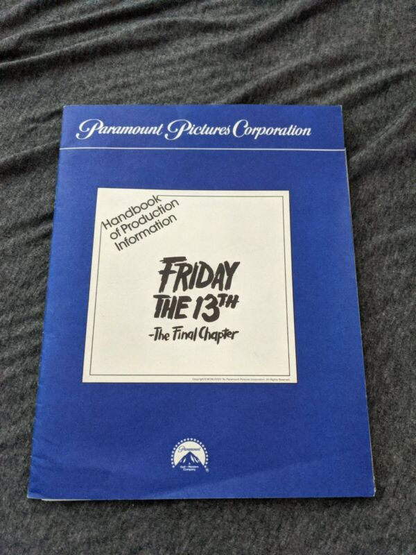Friday the 13th the final chapter ( Part 4 IV) Press Kit RARE
