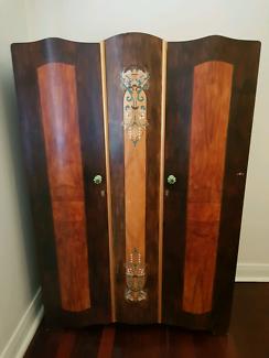 Antique Wardrobe double door + drawers