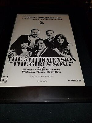 The 5th Dimension The Girls Song Rare Promo Poster Ad Framed!