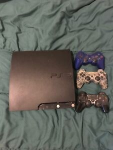 PS3, 11 games, and 3 controllers