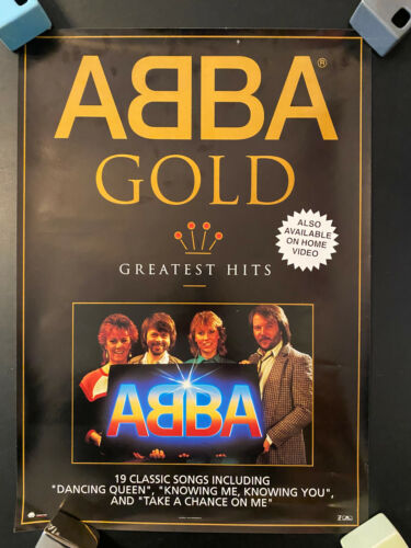 ABBA GOLD 1992 rolled poster Polydor Polygram