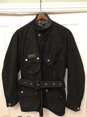 - Barbour International Wax Jacket Size 42