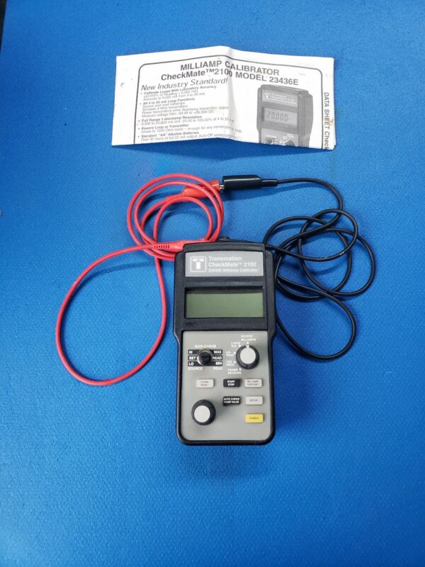 Transmation CHECKMATE 2100 Model 23436E mA/V Signal Milliamp Loop Calibrator