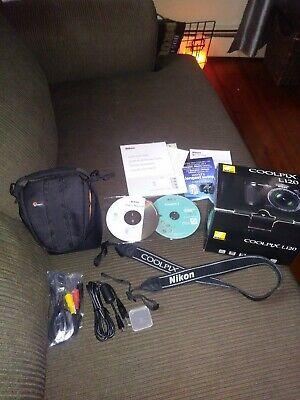 Nikon COOLPIX L120 14.1MP Digital Camera Black New In Box With Neck Strap + Case