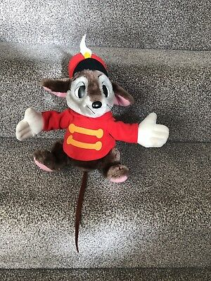 Dumbo Rat - Disneyland Walt Disney World Vintage Timothy Mouse Rat Dumbo Soft Toy Plush