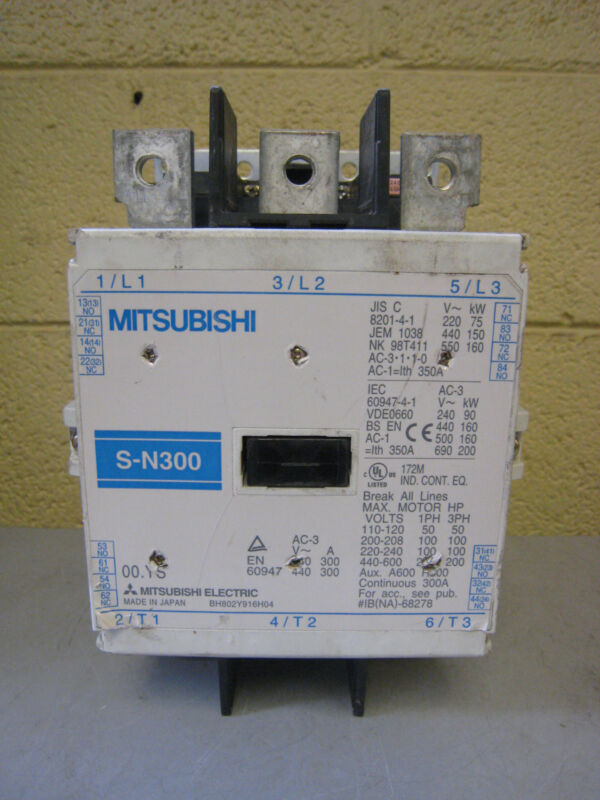 Mitsubishi Electric S-N S-N300 BH802Y916H04 300A Contactor Used Free Shipping