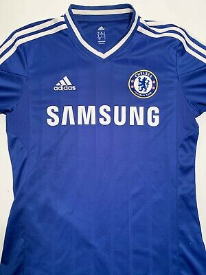 MEN'S ADIDAS FC CHELSEA 2013/2014 HOME FOOTBALL SOCCER SHIRT JERSEY BLUE SIZE S image