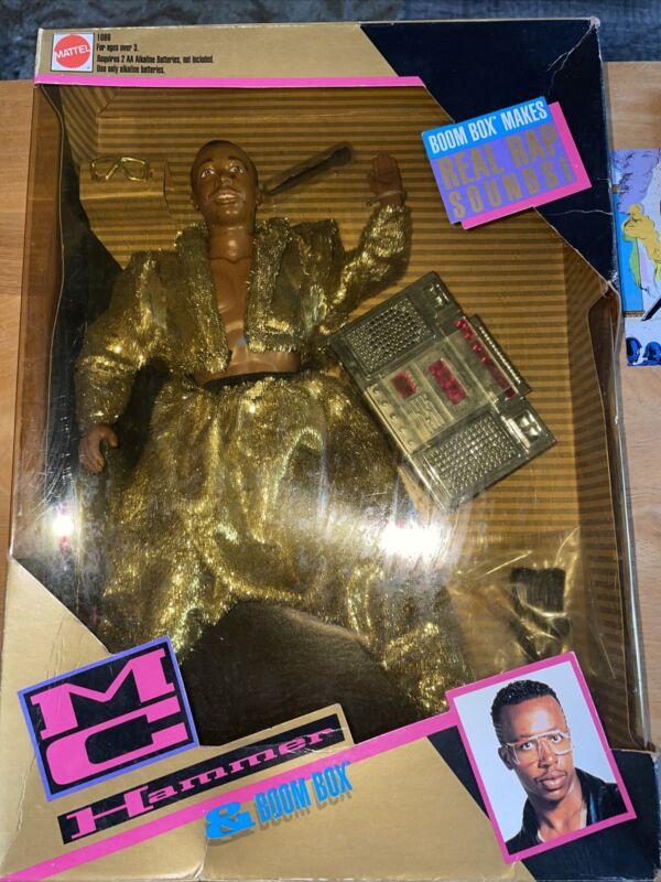 VINTAGE 1991 MC HAMMER DOLL & BOOM BOX MATTEL NISB