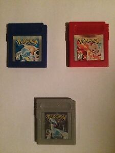 Pokemon Red , Blue , Silver Gameboy Games