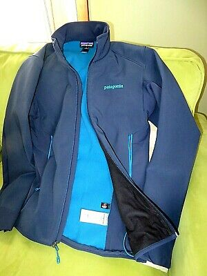 Patagonia Polartec Windbloc Navy Blue Full Zip Jacket 2 Zipper Pockets/1 inside