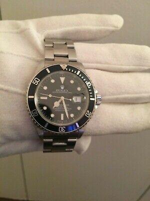 Rolex Submariner 16610 Date Stainless Steel 40mm Watch-Black Dial-Ceramic Bezel