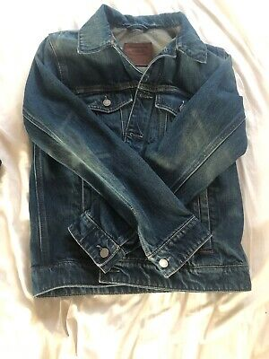 Mens Small Vintage Distressed Abercrombie And Fitch Denim Jean Jacket