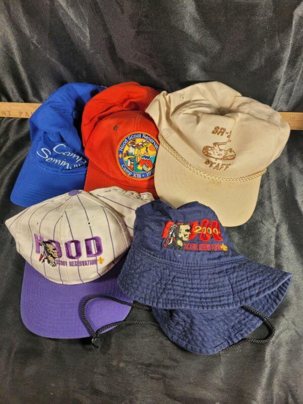 Hood Scout Vintahe Hat Cap Lot Of 5