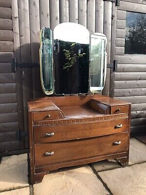 Vintage Lebus Dressing Table/Drawers With Mirrors