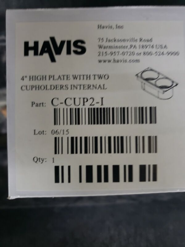 Havis Internal Double Two Flush Cup Holder C-CUP2-I Police Console A