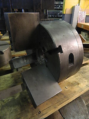 11 3-jaw Face Plate Comb. Power Chuck A6 Mounting Used Warranty