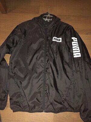 Puma Track Jacket Men's L Black Long Sleeve Full Zip Athletic Jacket