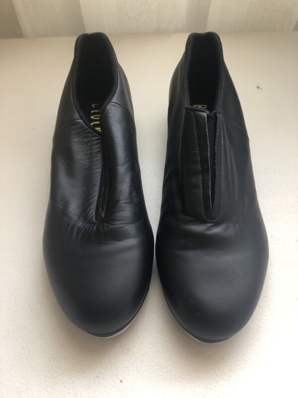 Bloch Tap Shoes Black Leather Slip On Mens 9.5 Womens 11.5
